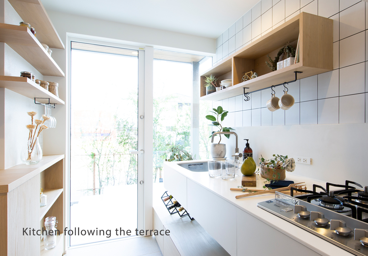 Kitchen following the terrace